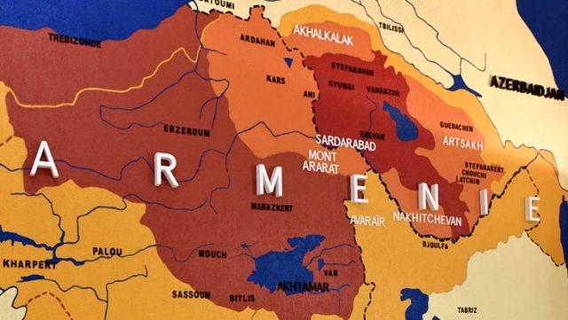 Fransız belediye başkanının paylaştığı harita, Türk topraklarını Ermenistan olarak gösteriyor